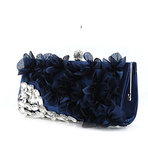 Sra. Flores bolsas/bolsos de noche de la mano/paquete de novia/casado paquete/bolso de vestido de diamantes de imitación-B B