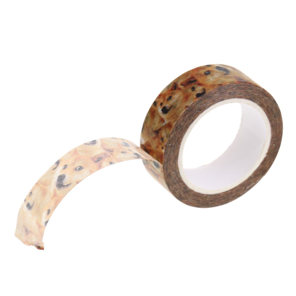MonkeyJack Washi Sticky Tape Journal Making DIY Decorative Collections Doge Images Printed Style Crafts