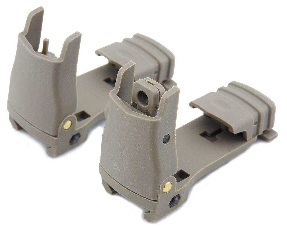 FMA Gen 1 Back Up Sights M Series Iron Sight DARK EARTH pts UK
