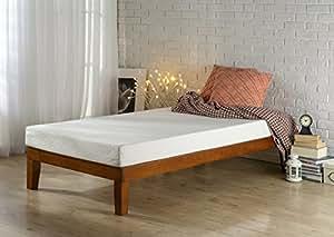 Amazon Com Zinus 12 Inch Wood Platform Bed No Boxspring
