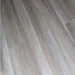 Dekorman 9403A 12mm AC4 CARB2 Premium Collection Laminate Flooring-Light Ash Oak, Gray