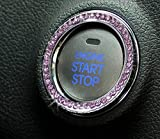 ford pink emblems - JessicaAlba Car Engine Start Stop Ignition Key Ring Car Auto Interior Decoration For Ford F150 F250 F350 Fusion Edge Escape Kuga Expedition Explorer MUSTANG