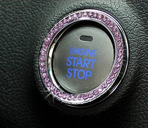JessicaAlba Car Engine Start Stop Ignition Key Ring Car Auto Interior Decoration For Landrover RANGE ROVER SPORT Evoque Freelander 2 DISCOVERY 3/4