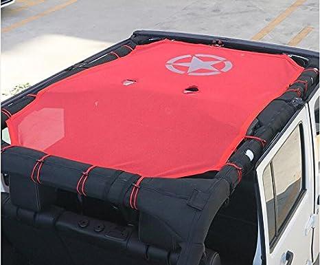 COLUDOR Colodor Parasole in Rete per Tetto Jeep Wrangler JK 4 Porte Protezione UV 5 Stelle