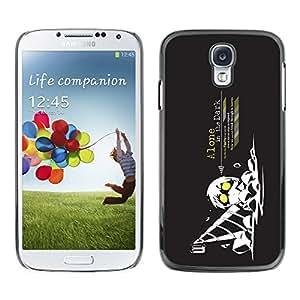 YiPhone /// Prima de resorte delgada de la cubierta del caso de Shell Armor - Cool Funny Art Guy Drill Dig Dark Black Yellow Worker - Samsung Galaxy S4 I9500