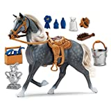 Saddle up for hours of great fun and happy trails with the blue ribbon champion deluxe Morgan horse set. Includes horse 'whinny' sound, movable head section, life-like textured mane and tail, plus detachable saddle. Superb detailing and stron...