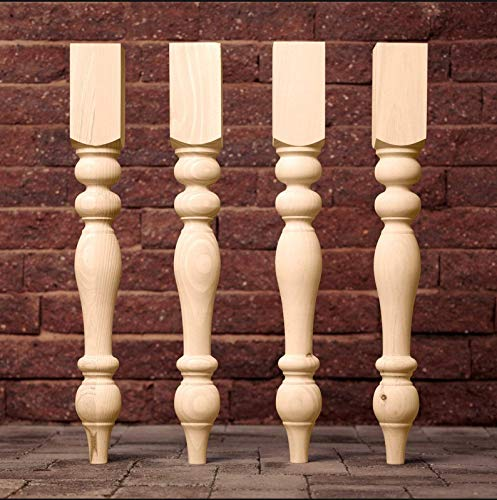 Carolina Leg Co. Knotty Pine Chunky Farmhouse Table Legs - Set of 4, 3.5