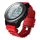Smart Watch,Men's Bluetooth Smart Watch Support GPS Air Pressure Call Heart Rate Sport Watch (S968, Red)