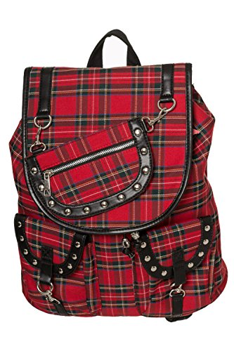 Banned Yamy Alternative Tartan Check Backpack – Tartan One Size