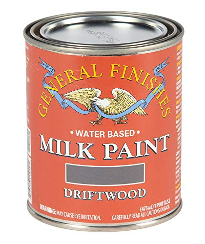 General Finishes PD Water Based Milk Paint, 1 Pint, Driftwood