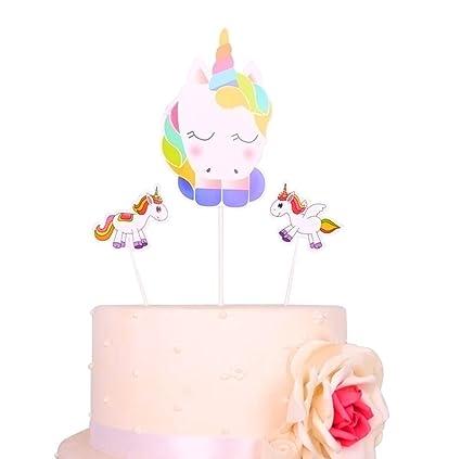 Amazon Com Unicorn Cake Topper Kootips Unicorn Happy Birthday