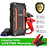 SUAOKI Car Jump Starter, 1000A Peak 12V Protable Auto Vehicle Battery Booster