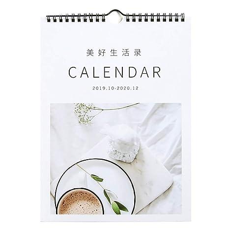 Amazon.com: Liitrton Minimalism 2019-2020 - Calendario de ...