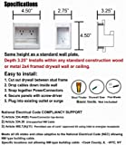 PowerBridge TWO-CK Dual Outlet Recessed In-Wall