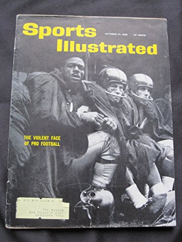 1960 Sports Illustrated October 24 Football Violence Good to Very Good [[Creasing on cover - contents fine]]
