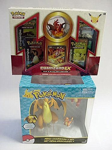 Pokemon Bundle with Orange Mega Charizard Set and Trading Card Game by Christina Peterson Bundle