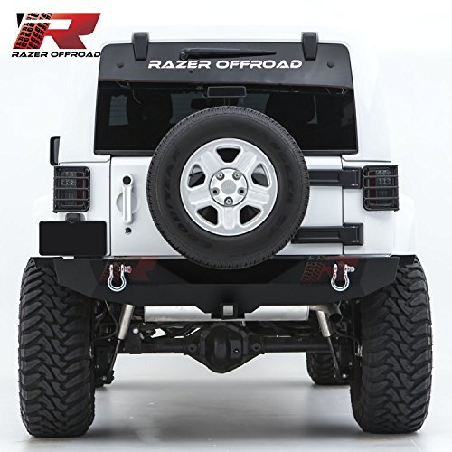 Razer Auto Rock Crawler Rear Bumper With Two 4.75 Ton With D-Rings and 2