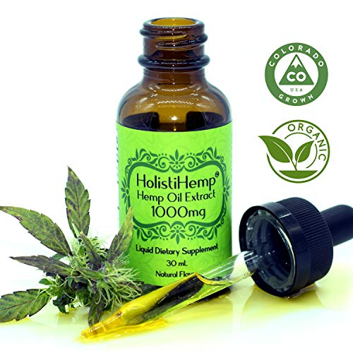 Hemp Oil Extract Full/Broad Spectrum -0% THC- 1000mg 30mL- Pain Relief - Anti Anxiety Social Anxiety- Depression Stress Support - Anti-inflammatory Grown & Made USA - Natural Flavor Organic Non GMO