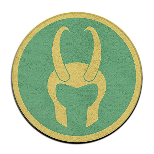 YellowNN Loki Helmet Round Doormats / Entrance Rug Floor Mats Doormats (Loki Helmet For Sale)