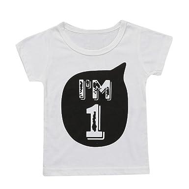 d62cfaad1bf62 Vêtements Unisexe Ete Oyedens Enfants Garçons Filles T-Shirt pour Garçon  Fille T-Shirt