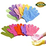 Facial Rash On One Side Of Face - Bath Gloves, Exfoliating Gloves Spa Gloves Shower Glove Facial Gloves Bath Body Scrub Shower Gloves Body Spa, 5 Pair(5 Color)