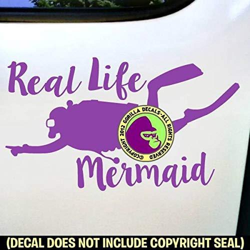 REAL LIFE MERMAID SCUBA Diver Diving Vinyl Decal Sticker B