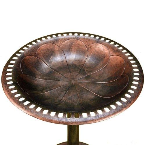 Bronze Resin Birdbath - Pedestal Birdbath for Yard or Garden Product SKU: BB14006