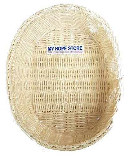 MY HOPE Rattan Handicraft Oval Basket 8 X 6.5 -