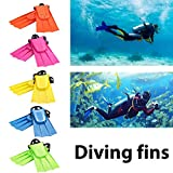 hAohAnwuyg Swimming Pins£¬1 Pair Adult Snorkeling Diving Swim Short Fins Flippers with Adjustable Heel - Blue XL