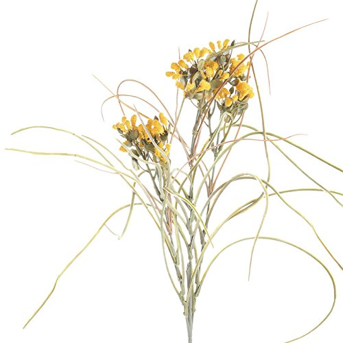 4 Whispy Artificial Yellow Pussy Willow Bud Floral Embellishing Sprays for Home Decor, Creating and Designing