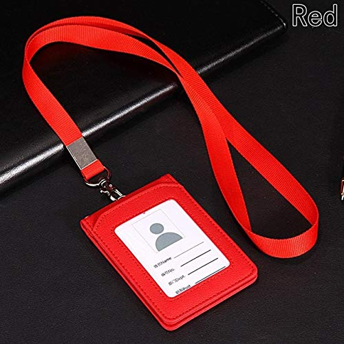 High-grade Pu Card Holder Staff Identification Card Neck Strap With Lanyard Badge Neck Strap Bus Id Holders Back To Search Resultsoffice & School Supplies