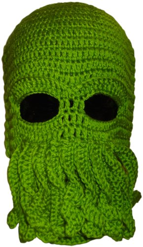 Authentic Soul Green Crochet Cthulhu Octopus Hat Beanie Ski -