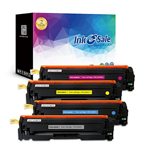 INK E-SALE Replacement for Canon 045 Canon 045H Toner Cartridge for use with Canon Color imageCLASS MF634Cdw MF632Cdw LBP612Cdw Printer, 4 Pack