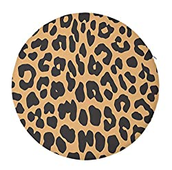Niyoung Cool Animal Leopard Print Seat Cushion Pad Memory Foam Cushion For Office Desk Chair Car Seat, Large Multi Use Lumbar Support Pillow For Lumbar Support/backrest