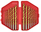 7 16 drill bit long - Industrial Titanium Drill Bit Set,Good For Drilling In Steel, Steel Alloy, Wood, Plastic, Metal, And Many Other Materials, 13 Pieces