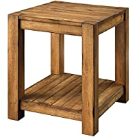 Better Homes and Gardens Bryant End Table, Rustic Brown Finish