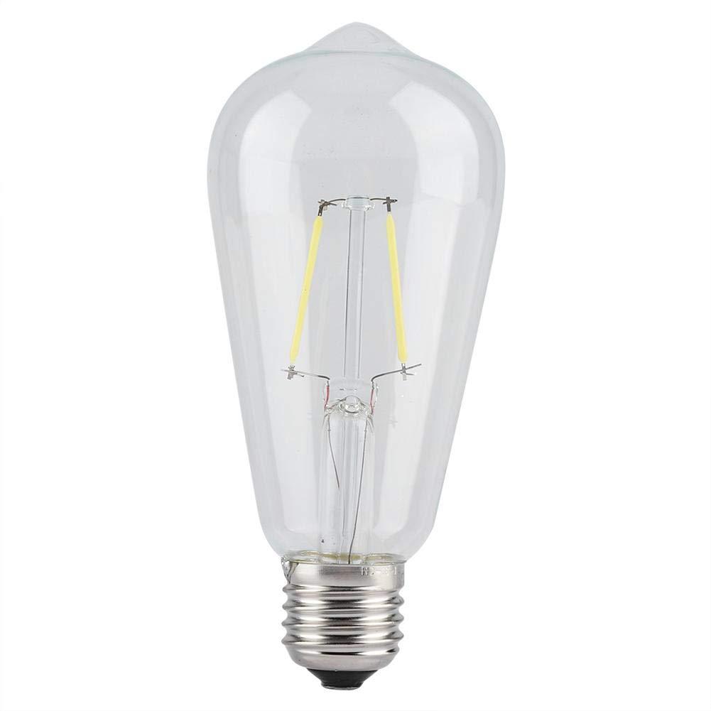Semme Filament Bulb, Vintage Edison Bulb, E27 2/4/6/8W AC220V Warm/White Filament Light Bulb for Restaurant Cafe Bar Illumination(8W-White Dimmable)