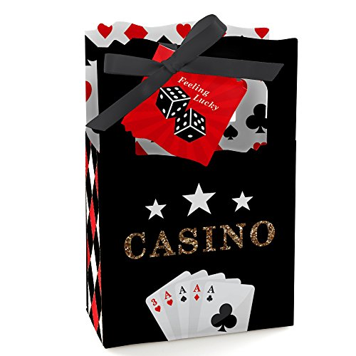 Las Vegas - Casino Party Favor Boxes - Set of 12 -