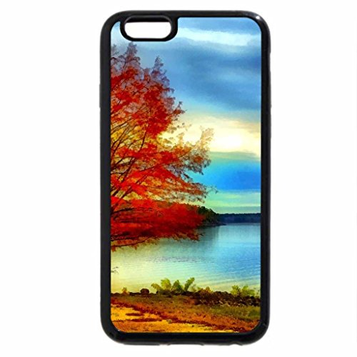 iPhone 6S Case, iPhone 6 Case (Black & White) - DeGRAY LAKE in AUTUMN