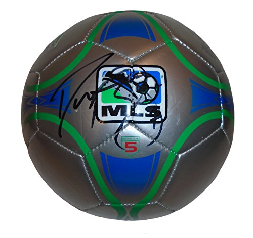 fan products of Houston Dynamo Damarcus Beasley Autographed Hand Signed MLS Logo Soccer Ball with Proof Photo, 2014 World Cup, Team USA, Los Angeles Galaxy, Puebla, Chicago Fire, COA