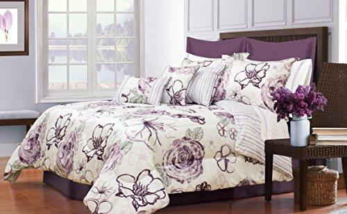 Safdie 60679.7K.09 Angelica King Purple Comforter Set (7 Piece)