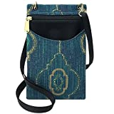 Danny K Women's Tapestry Crossbody Cell Phone or Passport Purse, Handmade in USA (Lucia)
