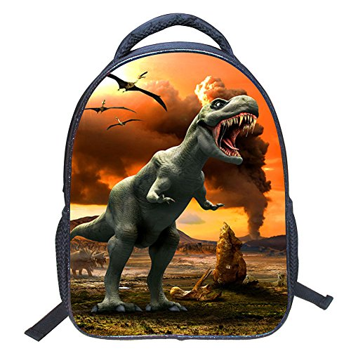 ild 3D Animals Cool Dinosaur Print Canvas Backpack Schoolbag Shoulder Bag Children Book Bag for Kindergarten (Type1) (Kids Dinosaur Backpack)
