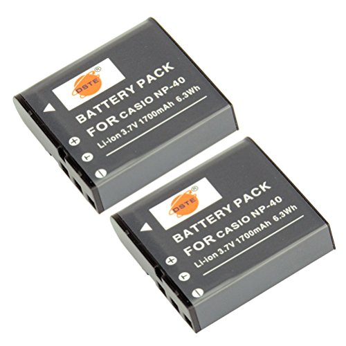 DSTE 2x NP-40 Replacement Li-ion Battery for Casio EX-FC100 FC150 FC160S Z400 PRO P505 P600 P700 ZOOM Z100 Z1000 Pentax XG-1 Camera as LB-060