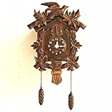 fwerq Cuckoo Clock European, swing creative wall clock, garden, pastoral music lounge House Children cuckoo, Clocks and Watches,E