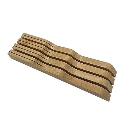 Compra LeKing--Portacuchillos de Madera Maciza Tipo cajón ...