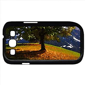 Autumn (Mountains Series) Watercolor style - Case Cover For Samsung Galaxy S3 i9300 (Black)