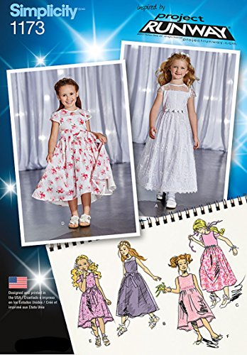 Simplicity Patterns US1173A Child's Project Runway Dresses, A -