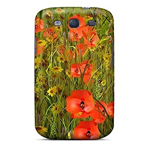 Premium BNdvfOs1931XvMuO Case With Scratch-resistant/ Poppy Sensations Case Cover For Galaxy S3
