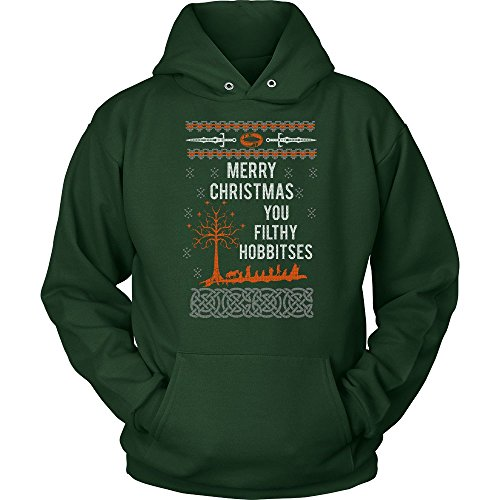 Merry Christmas You Filthy Hobbitses Lord of The Rings Ugly Christmas Sweater Unisex Hoodie